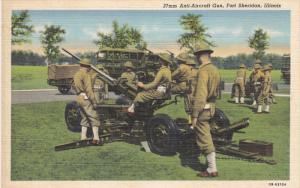 Military Men, 37mm Anti-Aircraft, FORT SHERIDAN, Illinois, 1930-1940s