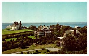 Rhode island   Watch Hill ,   Aerial view of Lighthouse Point Elegant Summer ...