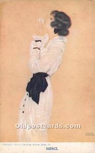Delta Fine Arts Co Printed in England Merci Artist Raphael Kirchner Unused mi...