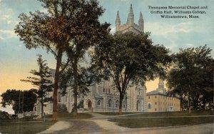 Williamstown Massachusetts~Williams College~Griffin Hall~Thompson Chapel~1908 PC