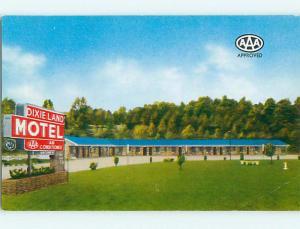 Unused Pre-1980 DIXIE LAND MOTEL Chattanooga Tennessee TN u3667