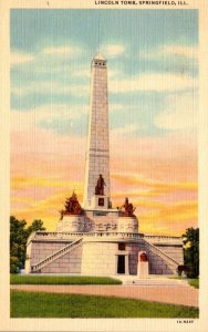 Illinois Springfield The Lincoln Tomb Curteich