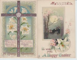 EASTER SERIES Postcards Raphael Tuck & Sons Antique Lot of 2