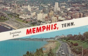 MEMPHIS, Tennessee, 1940-60s; Greetings, Downtown and Riverside Drive