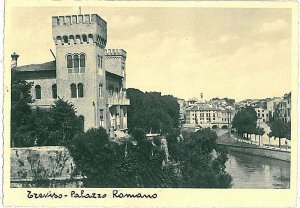 CARTOLINA d'Epoca - TREVISO Città: PALAZZO ROMANO 1935