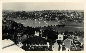 c1930 RPPC Postcard Rushcutters Bay & Oval Sydney NSW Australia Carlton Ser.2026