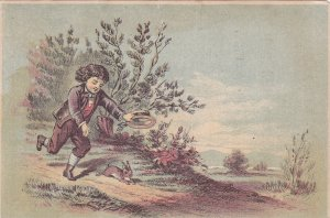 ADV: Boy chasing rabbit, UNIVERSAL WRINGER, William F. Ackerman, House Furnis...