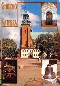Poland Old Vintage Antique Post Card Cniezno Katedra Postal Used Unknown