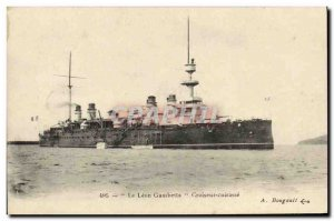 Old Postcard The Boat Leon Gambetta Cruiser Breastplate