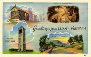 Greetings from Luray, Virginia