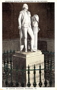 Virginia Richmond State Capitol Building Houdon's Statue Of Washington I...