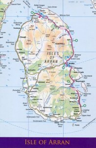 UNITED KINGDOM: MAP OF ISLE OF ARRAN (SCOTLAND)