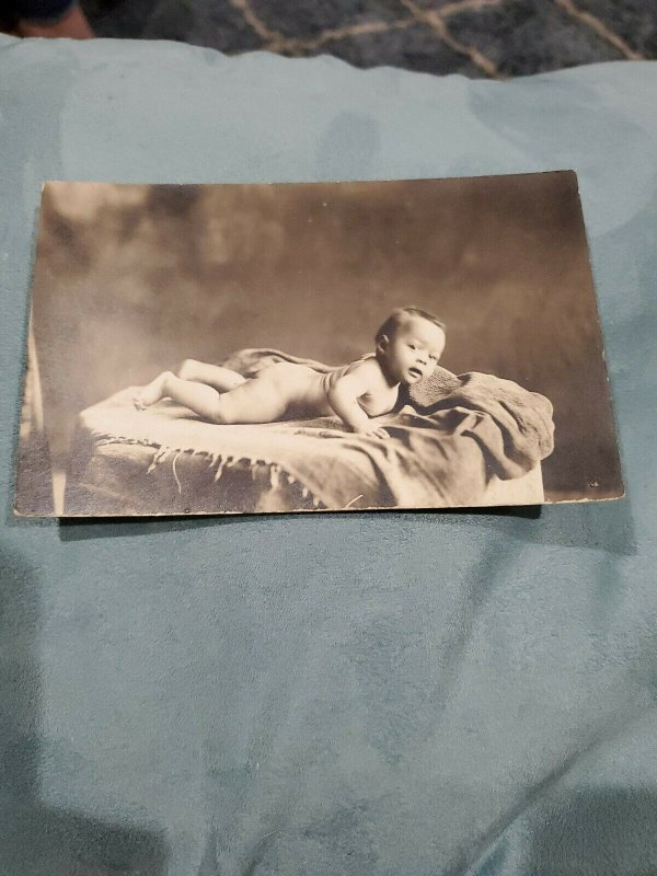 RPPC African-American baby butt photo. Identified! Early 1900s.  Very rare shot