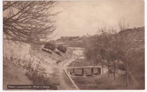 Malta; Malta's Countryside, Wied Il-Qlejja PPC, Unposted, Note Bridge