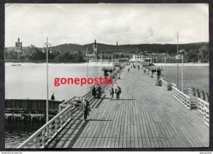 dc724 - Poland SOPOT near Gdansk Danzig 1967 Real Photo Postcard. Sent to Canada