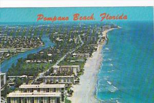 Florida Pompano Beach Aerial View Showing Apartments and Hotels 1981
