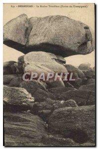 Postcard Old Brignogan Le Rocher Tremblant Form Mushroom