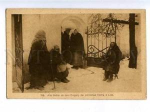 183177 WWI BELARUS LIDA beggars at church Vintage #795