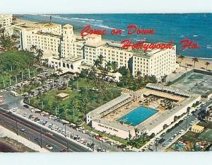 Unused Pre-1980 OLD CARS & HOLLYWOOD BEACH HOTEL Hollywood Florida FL Q4460@