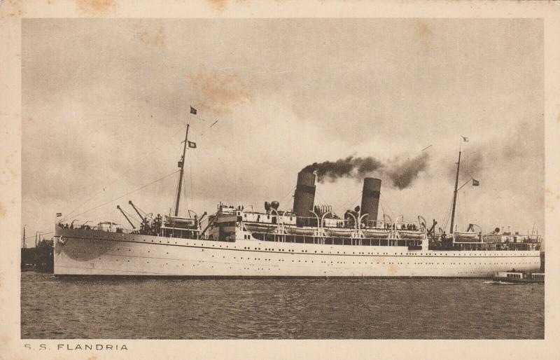AMSTERDAM, Netherlands, 1910-20s; S.S. FLANDRIA