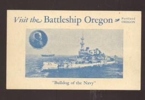 UNITED STATES NABY BATTLESHIP USS OREGON MILITARY SHIP VINTAGE POSTCARD