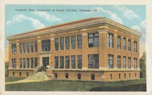 DURHAM , North Carolina , 1900-10s ; Caldwell Hall, University of NC