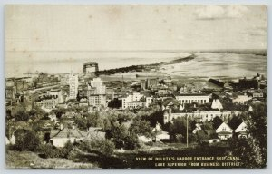 Duluth MN~Harbor Entrance~Ship Canal~Lake Superior~Long Bldgs~Business Dist~1910