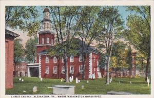Christ Church Where Washington Worshipped Alexandria Virginia 1942
