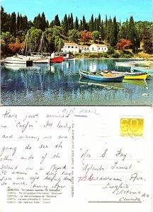 The pictureesque little harbor, Couloura, Corfu, Greece
