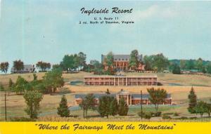Staunton Virginia~Ingleside Resort~Golf~1950s Postcard