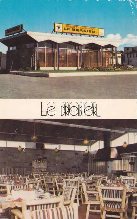 2-views,  Le Brasier Restaurant,  Rimouski,  Quebec,  Canada,  PU_1988