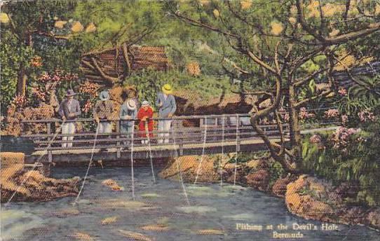 Fishing at the Devil's Hole, Bermuda, PU-1941