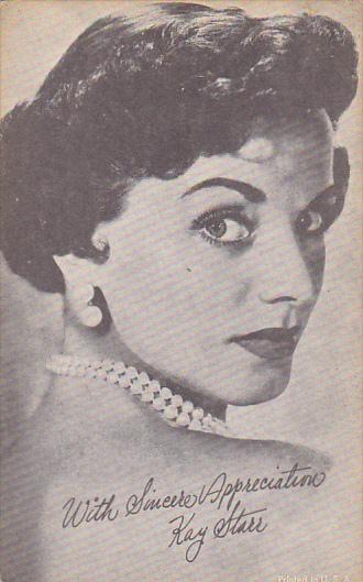Vintage Arcade Card Kay Starr