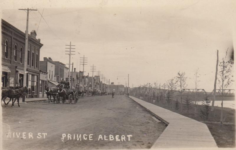RP, PRINCE ALBERT, Saskatchewan, 1900-10s; River St