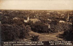 Beatrice Nebraska Residence District Real Photo Antique Postcard K29073