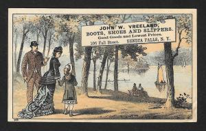 VICTORIAN TRADE CARD JW Vreeland Boots Shoes & Slippers