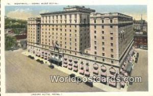 Montreal Canada, du Canada Hotel Mont Royal  Hotel Mont Royal