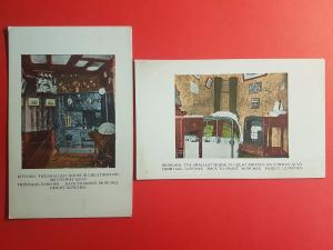 2 Vintage Postcards Smallest House in Great Britain, Interior, Conway Quay #S