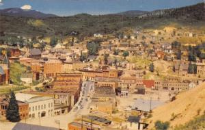 Central City Colorado~Birdseye Panorama~McLaughlin Coffee~Owl Cigar~1959 PC