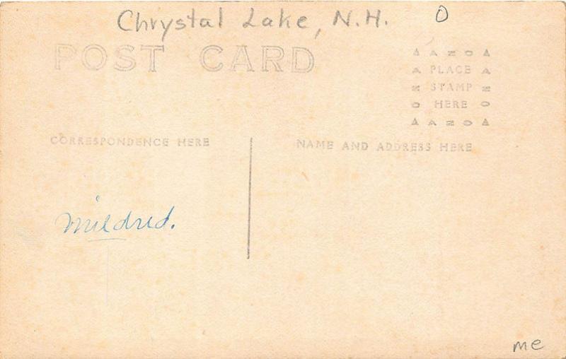 Chrystal Lake NH Store Fronts Horse & Wagons Parade RPPC Postcard