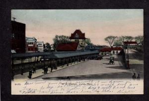 MA 1906 Railroad Train Station Depot Lynn Mass Massachusetts Postcard UDB, PC
