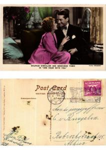 CPA Maurice Chevalier and Genevieve Tobin in One hour with FILM STAR (399422)