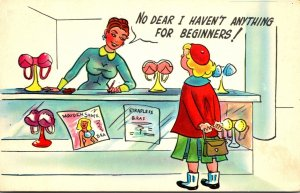 Humour Girl Shopping For Bra No Dear I Haven't Anything For Beginners