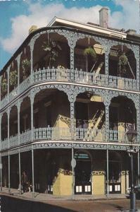 Louisiana New Orleans Lace Balconies 700 Royal Street