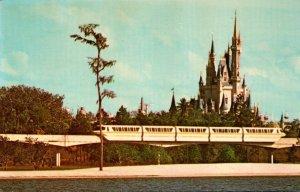 Florida Walt Disney World Cinderella Castle and Monorail
