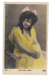 Miss Madge Lessing, Actress, Singer, Real Photo Used Nova Scotia Split Ring 1905