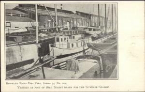 Brooklyn Eagle Postcard Series #202 c1905 Postcard BOATS at 56th ST.