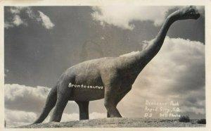RP; RAPID CITY , South Dakota , 1930-40s ; Brontosaurus , Dinosaur Park