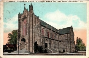 Postcard IN Indiana Indianapolis Tabernacle Presbyterian Church Posted 1927
