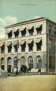india, BOMBAY, Currency Bank (1910s) Postcard